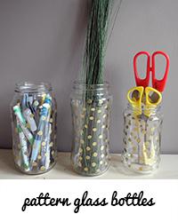 pattern glass bottles