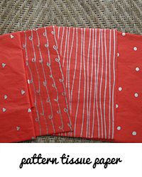 pattern tissue paper