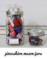 pincushion mason jars